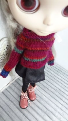 Hey, I found this really awesome Etsy listing at https://www.etsy.com/listing/218862420/wool-striped-knitted-sweater-for-blythe