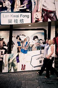 Lan Kwai Fong St, HK central