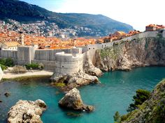Dubrovnik, Croatia...ahh the old city walls that fall off into the sea. The people are so nice and they have gelato too!