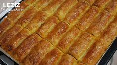 Dessert Bars, Dessert Recipes, Desserts, Bread Dough Recipe, Hot Dog Buns, Lasagna, Food Videos, Banana Bread, French Toast