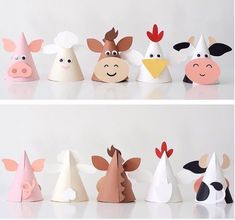All designs in the Karen Boudreau.inc store are off today! Head over and gra… All designs in the Karen Boudreau.inc store are off today! Head over and grab these animal party hats from our farm party and more. Farm Animal Party, Farm Animal Crafts, Farm Animal Birthday, Animal Crafts For Kids, Farm Birthday, Farm Party, Toddler Crafts, Preschool Crafts, Diy For Kids