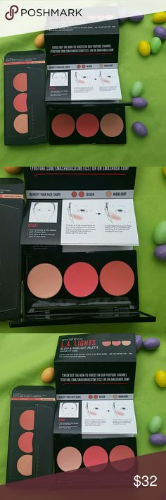 Smashbox created. Tested. Photographed. New. Smashbox L.A. LIGHTS,  blush & highlight palette.  Rich coral, true coral, highlight coral. Smashbox Makeup Blush