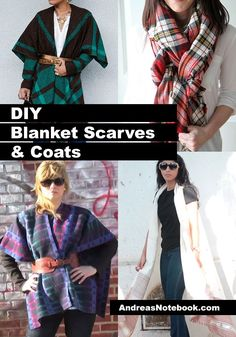 Grab some wool or flannel and make some DIY blanket coats. These are so easy!