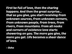 Osho quote spirituality consciousness metaphysics love