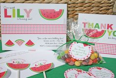 cute watermelon party