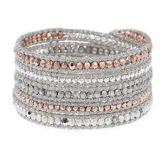 Grey Banded Agate Mix Triple Wrap Bracelet Chan Luu Jewelry Pinterest And Bracelets
