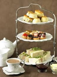 The old English tradition of taking afternoon tea at 4 o'clock