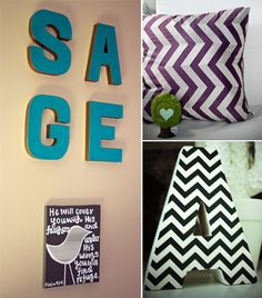 Chevron details in the nursery