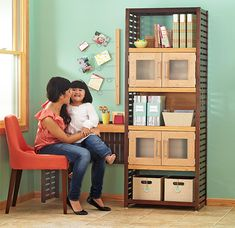 Office Anywhere Compact Desk Project  Need a home workstation? Build a home office to fit any room by adding a computer desk, doors, and storage bins to a ventilated shelving system.