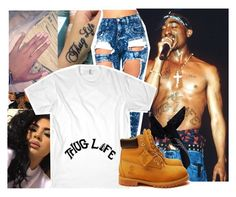 """""""dedicated to the legend"""" by bitchgotswagg ❤ liked on Polyvore featuring Boohoo and Timberland"""