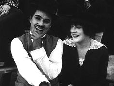 "Charlie Chaplin & Mabel Normand in ""Gentlemen of Nerve"" Keystone - 1914"