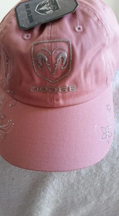 9c6fdb827be Dodge Logo glitter on a Ladies new Pink ball cap w tags
