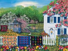 White Mountain - Quilts for Sale Jigsaw Puzzle - 1000 pc