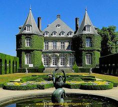 Château Solvay, also called the Château de La Hulpe, La Hulpe, Walloon Brabant, Belgium. - www.castlesandmanorhouses.com