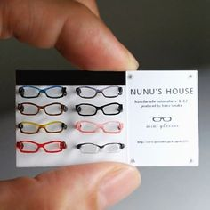 メガネもまた作ろうかなーって思う。私はかけてませんけど! #miniature #ミニチュア #雑貨 #メガネ