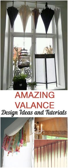 11 Fabulous Valance Designs and Tutorials Valance designs, window treatment ideas, DIY window treatments, DIY valance… Home Projects, Diy Curtains, Home, Remodel, Window Decor, Diy Valance, House Styles, Home Diy, Diy Window