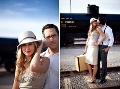 Vintage Love at the Train Station | Green Wedding Shoes | Weddings, Fashion…