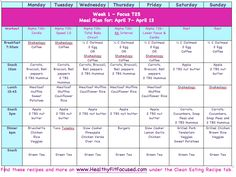T25 Clean Eating Meal Plan, www.HealthyFitFocused.com
