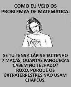 Amo matemática mas essa frase é super engraçada