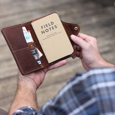The Logbook Fine Leather Field Notes Wallet The Logbook Fine Leather Field Notes Wallet is a unique and timeless item! It is handmade right here in our shop with the finest of Full Grain American leathers. We hand–pick our leather hides from a local tannery for a rustic look and feel. This is a gift …