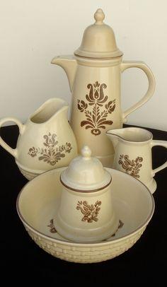 pfaltzgraff village coffee and tea serving set 5pc se via etsy - Pfaltzgraff Patterns