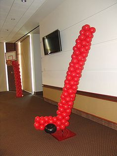 Hockey Stick and Puck out of balloons