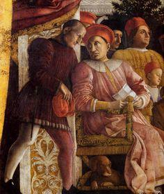 MANTEGNA, Andrea The Court of Gonzaga (detail) 1465-74 Walnut oil on plaster Camera degli Sposi, Palazzo Ducale, Mantua