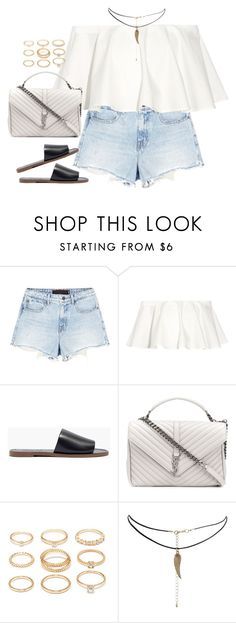 """Untitled#4520"" by fashionnfacts ❤ liked on Polyvore featuring Alexander Wang, Rosetta Getty, Madewell, Yves Saint Laurent, Forever 21 and ASOS"