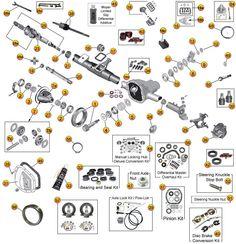 Jeep Cherokee XJ Axle Parts | Dana Model 30 Jeep Front Axle Parts
