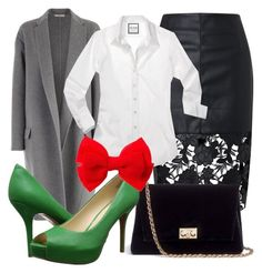 """""""Christmas outfit #6"""" by guusjelovesfashion on Polyvore featuring mode, CÉLINE, Rodo en Nine West"""