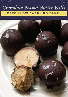 Description: Are you a chocolate and peanut butter's lover? If Yes, then these No-Bake Keto Chocolate Peanut Butter Balls will definitely become a super favorite of yours! Low Carb Desserts, Easy Desserts, Low Carb Recipes, Snack Recipes, Dessert Recipes, Holiday Desserts, Candy Recipes, Paleo Recipes, Snacks