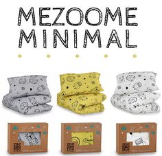 """This Kids and toddlers bedding set is the first of my new collection """"Mezoome Minimal"""" Designed especially with kids and toddlers in mind so it has a more mature / grown up pattern but still carries the unique Mezoome trademark. Made from 100% organic cotton, this Ultra-soft Unisex kids bedding set will help turn your kid's night sleep into a fun experience. As always, this set is made to the highest standard and with great attention to details."""