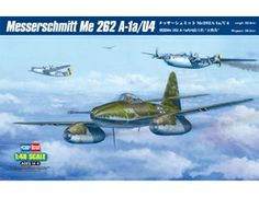 The Hobby Boss Messerschmitt Me 262 A-1a/U4 in 1/48 scale from the plastic aircraft model range accurately recreates the real life German jet-propelled fighter aircraft used towards the end of World War II. This plastic aircraft kit requires paint and glue to complete.