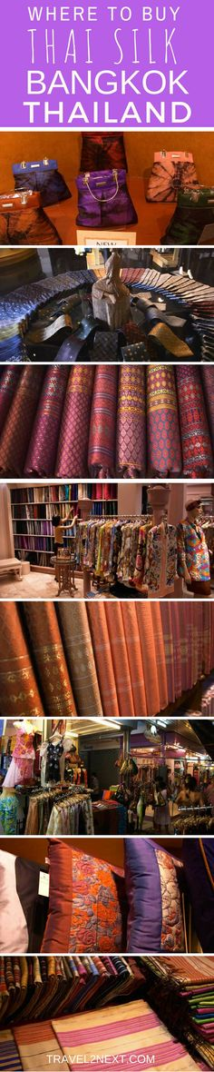Thai silk – Where to buy Thai silk in Bangkok. Just walk into any shopping mall or market in Bangkok and you will see rows of silk items, from pre-cut dressmaking fabrics to neckties and cushion covers.