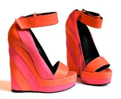 Pierre Hardy Spring 2011 colorblock wedge sandals. My feet would look fabulous in these shoes!