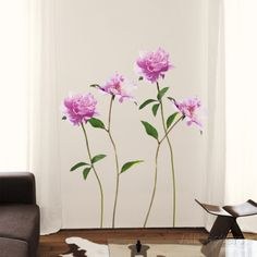 Pivoine Rose Wall Decal at AllPosters.com