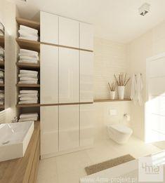 Projekt domu w Łomiankach wykonany przez Projekt - - M K - Bathroom Design Inspiration, Modern Bathroom Design, Bathroom Interior Design, Laundry In Bathroom, Small Bathroom, Bathroom Layout, Bathroom Styling, Bathroom Renovations, Bathroom Furniture