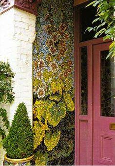 Mosaic entryway.