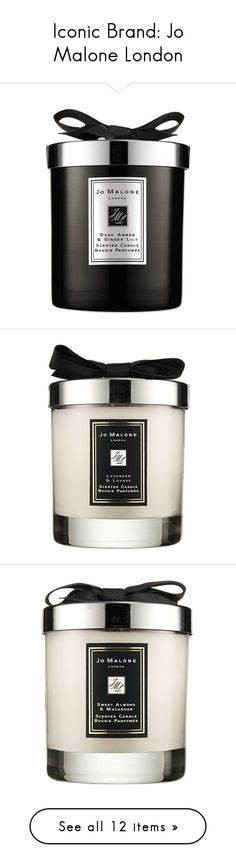 """""""Iconic Brand: Jo Malone London"""" by polyvore-editorial ❤ liked on Polyvore featuring jomalonelondon, home, home decor, candles & candleholders, jo malone candle, fragrance candles, scented candles, jo malone, amber candle and lavender scented candles"""
