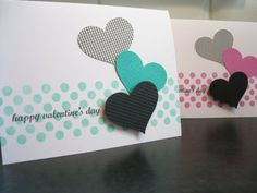Handmade Valentine's Day Card Set of 2 by apaperaffaire on Etsy, $5.25