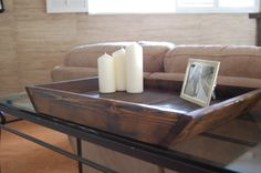Rustic Decorative Wood Tray I'm looking for an old tray like this for my huge coffee table