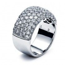 18K White Gold Lady`s ring with 97 Round diamonds/2.36R