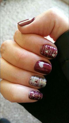 Heart nail arts desgin
