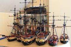 flotilla of lego ships!