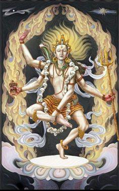 Lord shiva as nataraj in creative art painting Kali Hindu, Hindu Art, Om Namah Shivaya, Shri Hanuman, Krishna, Durga Maa, Hindu Deities, Hinduism, Kali Mata