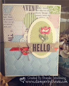 Oh, Hello and Tea for Two paper  Stampin' Up!~Brandie Schmiesing www.stamperbythesea.com