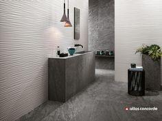 Rivestimento tridimensionale in ceramica a pasta bianca 3D WALL DESIGN FLOWS by Atlas Concorde