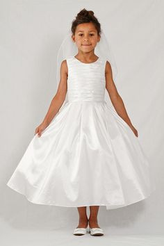 97f7bf0c271 LAUREN MARIE Pleated Taffeta Dress (Little Girls   Big Girls) available at   matches pleating of bridesmaids