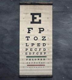 Cool Eye Exam Canvas Chart by Sideshow Sign Co. on Scoutmob Shoppe