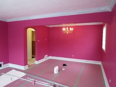 Before drywalling and painting interior walls in Toronto. Look at what a little color can do for a room!  View our website to receive a free quote and find out how to receive 10% your next painting project! www.homepainterst... #home #painting #toronto #homepainters #homemakeover #drywallproject